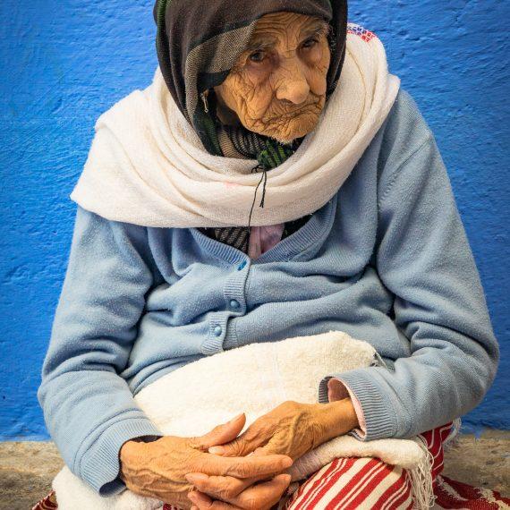 Anciana de Chefchaoen, Marruecos